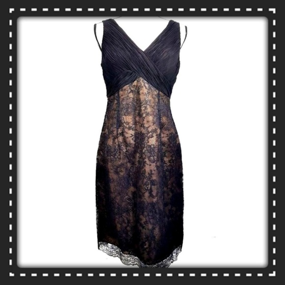 Jones Wear Dresses & Skirts - Jones Wear Dress Size 8 Black / Nude Lace Overlay